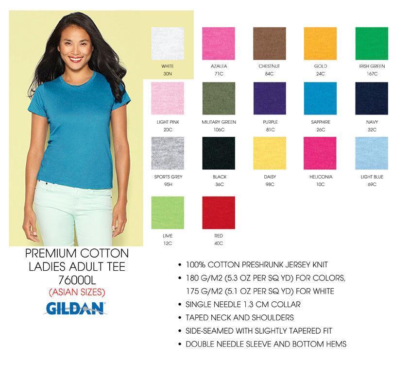 76000L color chart