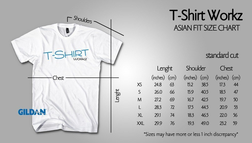 Standard Cut Asian Sizes Premuim Cotton Tshirtworkz